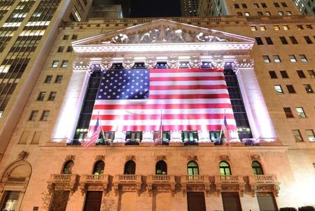 new york stock exchange: NEW YORK CITY - MAY 26: The historic New York Stock Exchange May 26, 2010 in New York, NY.