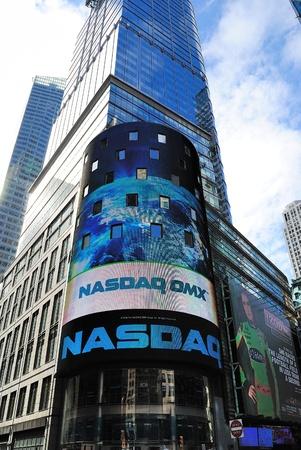 times square: NEW YORK CITY - APRIL 18: The NASDAQ Stock Exchange at Times Square April 18, 2010 in New York, NY.