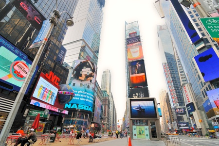 NEW YORK CITY - JUNE 27: LCD Jumbotron Billboards in famous Times Square June 27, 2010 in New York, NY. Stock Photo - 8797068