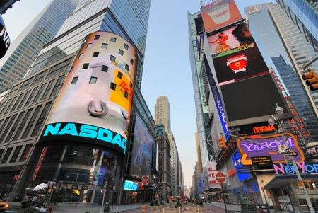 NEW YORK CITY - JUNE 27: The NASDAQ headquarters in famous Times Square June 27, 2010 in New York, NY.