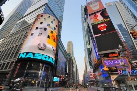 times square: NEW YORK CITY - JUNE 27: The NASDAQ headquarters in famous Times Square June 27, 2010 in New York, NY.