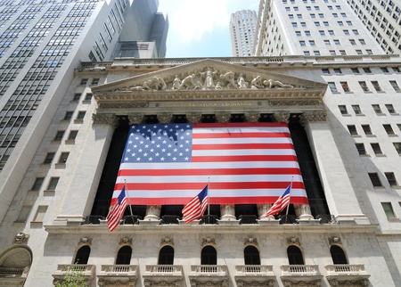 economic revival: Building of the New York Stock Exchange in Lower Manhattan.