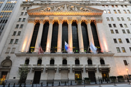The landmark new york stock exchange in new york city. october 13, 2010. Stock Photo - 8797052