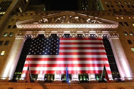The historic New York Stock Exchange in New YOrk City. May 26, 2010. Stock Photo - 8797055