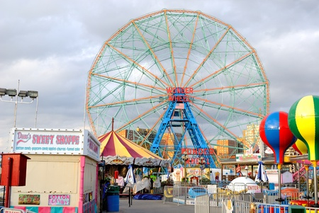 The Wonder Wheel at Coney Island. October 24, 2010.