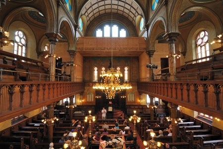 jewish community: NEW YORK CITY - JUNE 6: The interior sanctuary of the Eldridge Street Synagogue, a landmark on the Lower East Side June 6, 2010 in New York, NY.