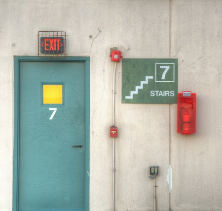 firealarm: 7th floor exit with fire alarm