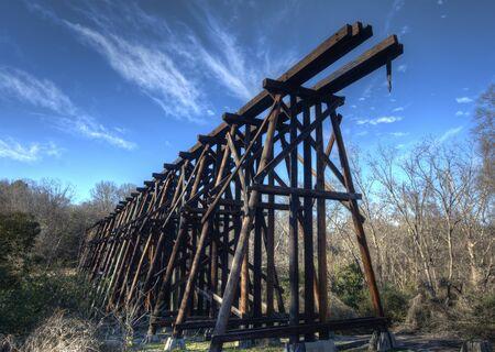 elevated: Abandoned elevated railroad tracks. Stock Photo