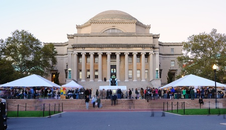 NEW YORK CITY - OCTOBER 22: Students gather at a festival in front of Low Memorial Library on the campus of Columbia University October 22, 2010 in New York, NY. Stock Photo - 9020177