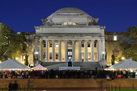 NEW YORK CITY - OCTOBER 22: Students gather at a festival in front of Low Memorial Library on the campus of Columbia University October 22, 2010 in New York, NY. Stock Photo - 9020200