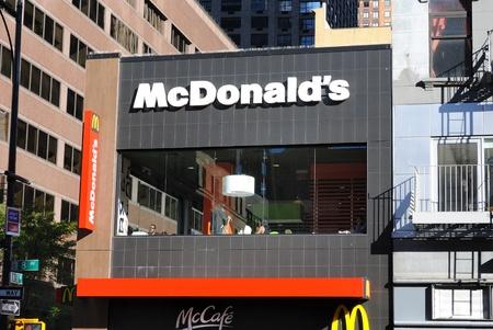 マクドナルドのミッドタウン マンハッタン ニューヨーク市。2010 年 9 月 20 日。