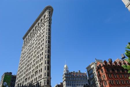 Flatiron building on Broadway in New York City. July 3, 2010.