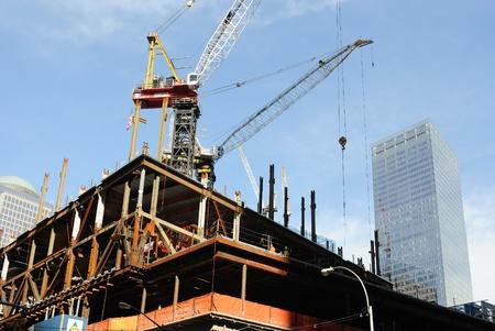 The World Trade Center site under construction in Lower Manhattan. October 11, 2010.