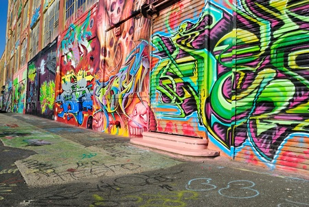 is creative: Five Pointz, considered a graffiti mecca in Queens New York City, is an outdoor exhibit space featuring numerous graffiti artists.October 7, 2010.