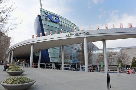 the largest: Georgia Aquarium, the worlds largest aquarium, in Atlanta, Georgia. February 20, 2011.