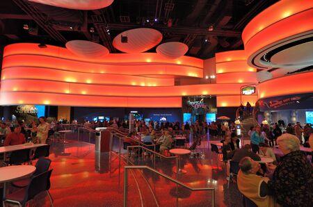 Food Court at the Georgia Aquarium, the worlds largest aquarium, in Atlanta, Georgia. February 20, 2011.