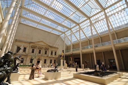 museum visit: Inside the american wing at the metropolitan museum of art in new york city. June 30, 2010. Editorial