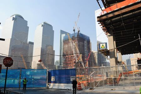 ongoing: The ongoing construction at the the World Trade Center in New York City. September 1, 2010.