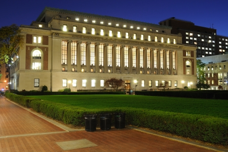 The Butler Library at Columbia Universary in New York City. Stock Photo