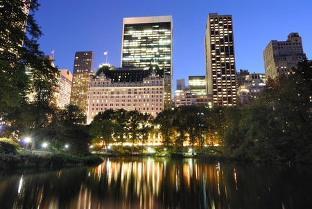 View of Central Park and New York City skyline. Stock Photo - 9094569