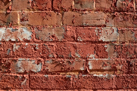 gritty: An exceptionally gritty brick wall.