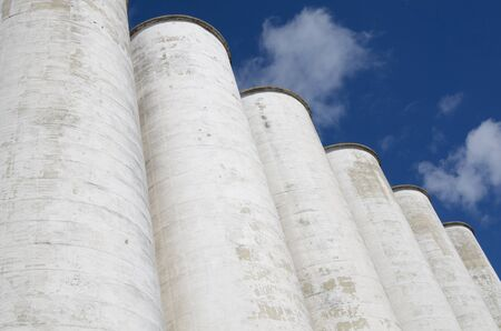 Large industrial silos in a row Stock Photo - 9094437
