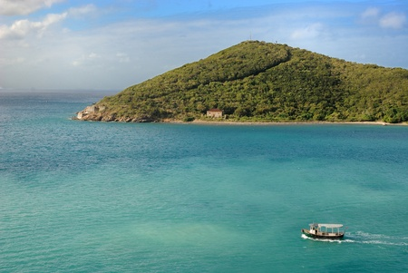 View of a small peninsula in St. Thomas, Virgin Islands. photo