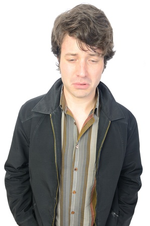 An adult male with a sad look on his face Stock Photo - 9232886