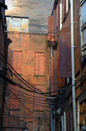 gritty alleyway Stock fotó