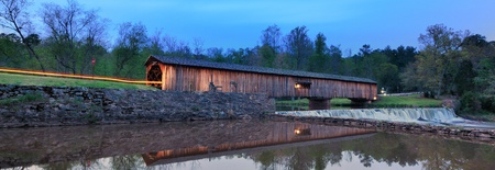An historic covered bridge at Watson Mill Bridge State Park near Comer in Northeast Georgia, USA. photo