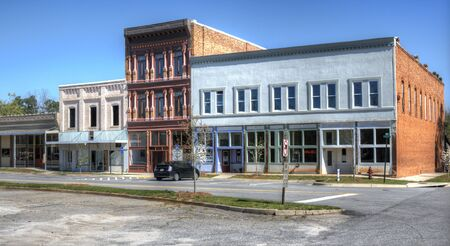 Una peque�a zona centro en Comer, Georgia, Estados Unidos.