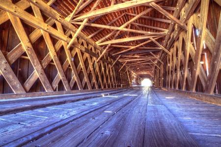 covered bridge': An historic covered bridge at Watson Mill Bridge State Park near Comer in Northeast Georgia, USA.