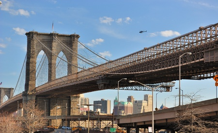 Brooklyn Bridge in New York City. photo