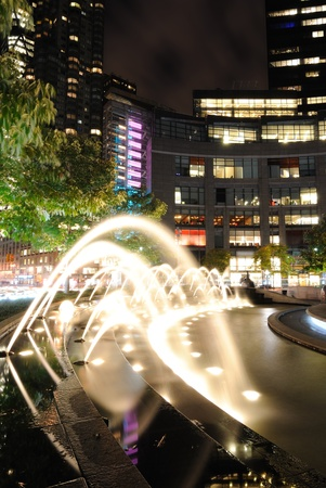 Spray of the fountains at Columbus Circle in New york City. photo