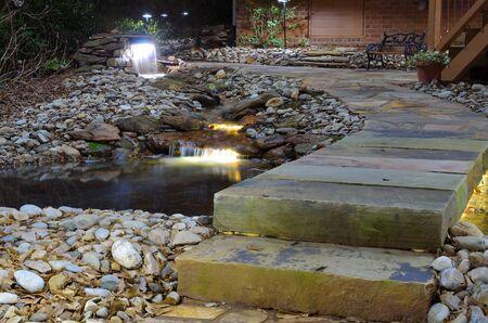 Waterval en rock stream Stockfoto - 9428616