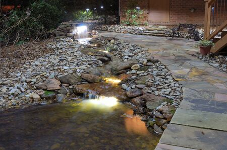 backyards: waterfall and rock stream