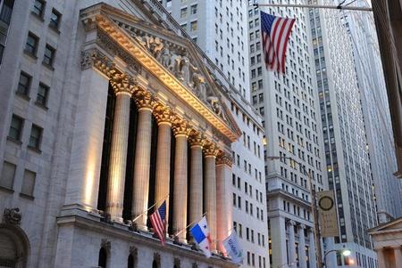 stock: The landmark new york stock exchange in new york city. October 13, 2010.