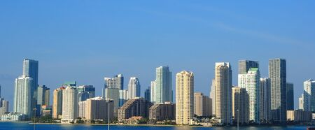 The skyline of Miami, Florida. Banque d'images
