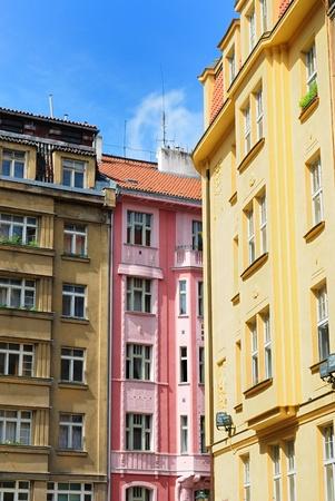 European Building Facades in Prague Banco de Imagens - 9482257