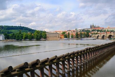 Vltava river in Prague Banco de Imagens