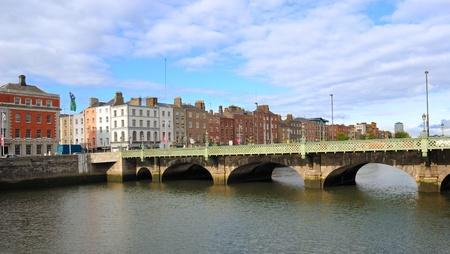De rivier de Liffey in Dublin, Ierland Stockfoto - 9482157