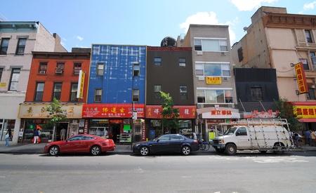 New York City June 7, 2010: A Chinatown street scene on Grand Street in Lower Manhattan.