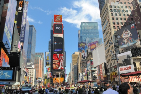 NEW YORK CITY - AUGUST 30, 2010: The famous Times Square, dubbed  Stock Photo - 9475313