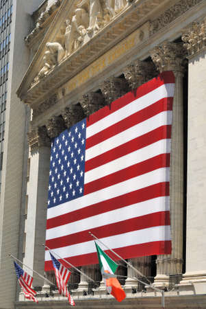 The historic Wall Street in New York York City and the New York Stock Exchange. July 12, 2010.