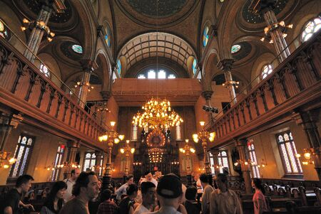 The interior if the Eldridge Street Synagogue on the Lower East Side of Manhattan. June 6, 2010. Stock Photo - 9475846