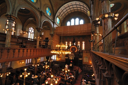 The interior if the Eldridge Street Synagogue on the Lower East Side of Manhattan. June 6, 2010.