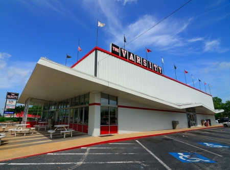 ATHENS, GEORGIA - MAY 4, 2011: The Varsity is an iconic fast food restaurant in the metro-Atlanta area.
