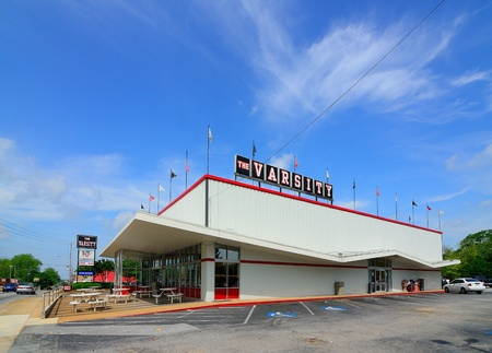 ATHENS, GEORGIA - MAY 4, 2011: The Varsity is an iconic fast food restaurant in the metro-Atlanta area. Stock Photo - 9475303