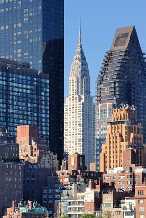 manhatten skyline: Midtown Manhattan Skyline einschlie�lich der Chrysler Geb�ude unter anderem.