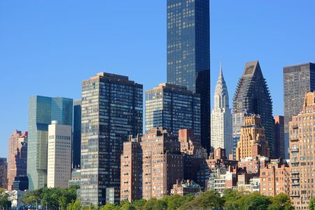 Midtown Manhattan skyline including the Chrysler building amongst others. photo